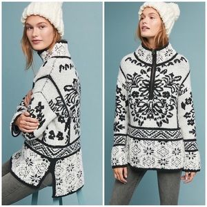 NWOT & RARE Anthropologie Alaskan Half-Zip Sweater
